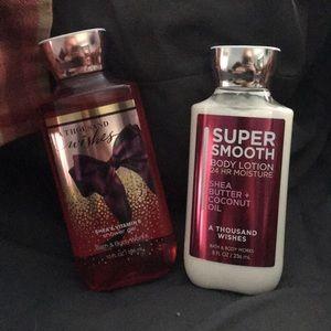 Bath & Body Works Shower Gel and Body Lotion